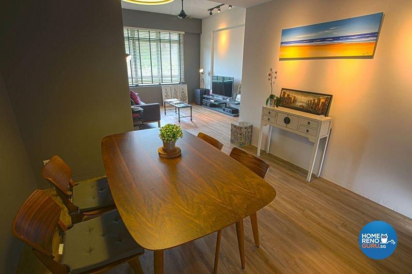 Industrial, Scandinavian Design - Dining Room - Condominium - Design by ted iD Pte Ltd