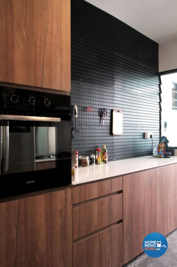 Contemporary Design - Kitchen - HDB Executive Apartment - Design by ted iD Pte Ltd