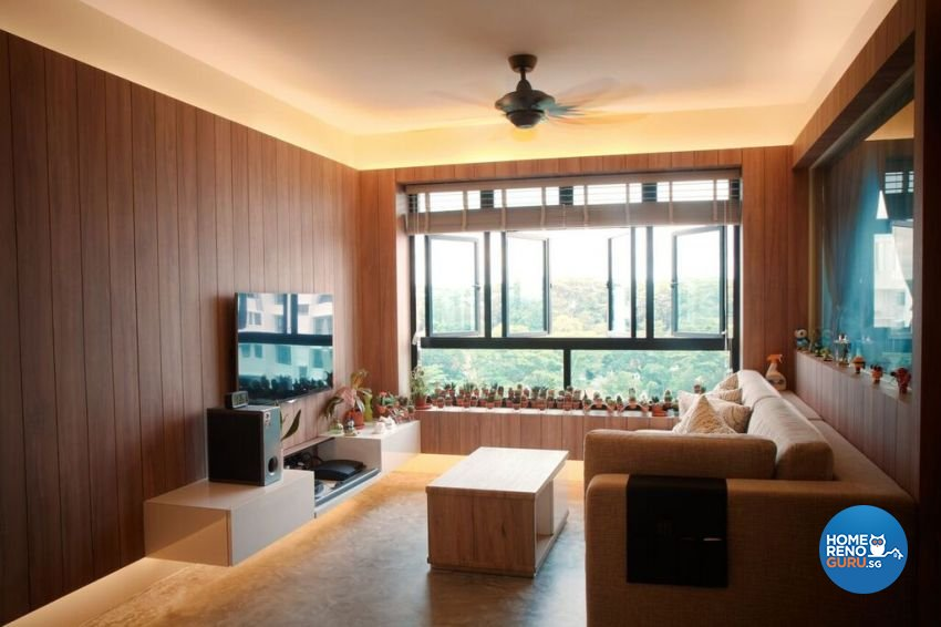 Contemporary Design - Living Room - HDB Executive Apartment - Design by ted iD Pte Ltd