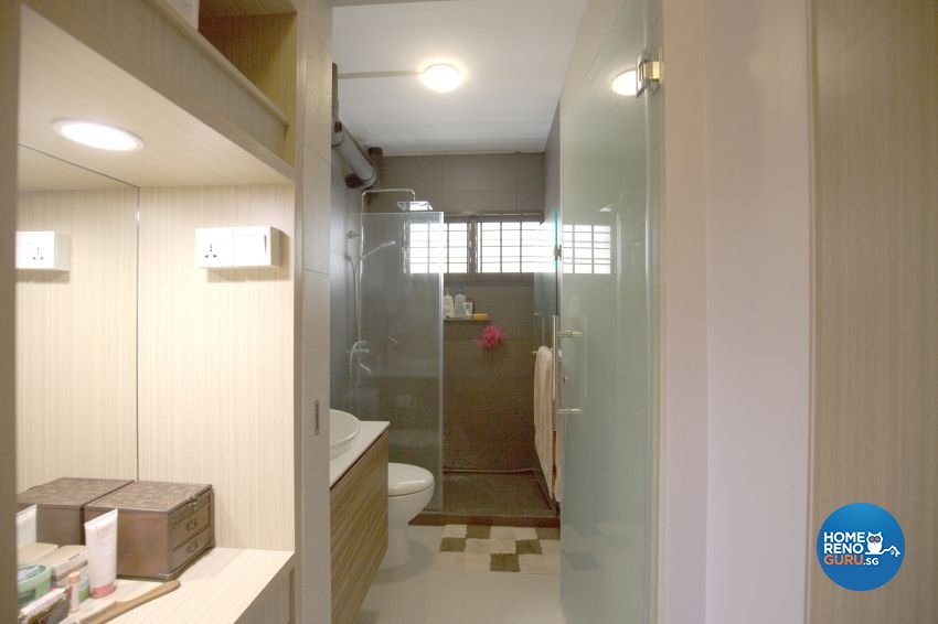 Minimalist Design - Bathroom - HDB Executive Apartment - Design by ted iD Pte Ltd