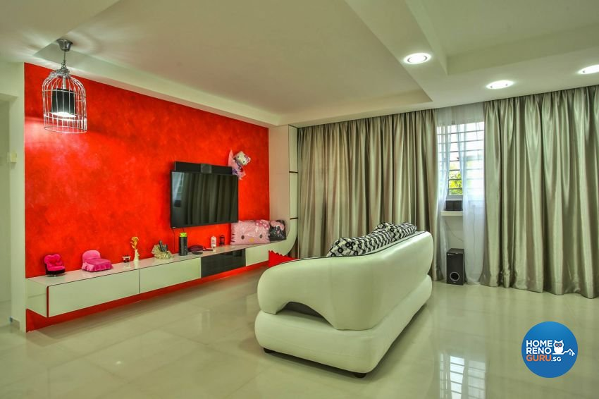Contemporary Design - Living Room - HDB 3 Room - Design by ted iD Pte Ltd