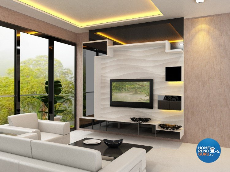 Contemporary, Minimalist Design - Living Room - Condominium - Design by The Creative Formation Pte Ltd