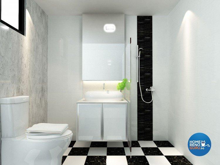 Minimalist, Modern Design - Bathroom - HDB Executive Apartment - Design by The Creative Formation Pte Ltd