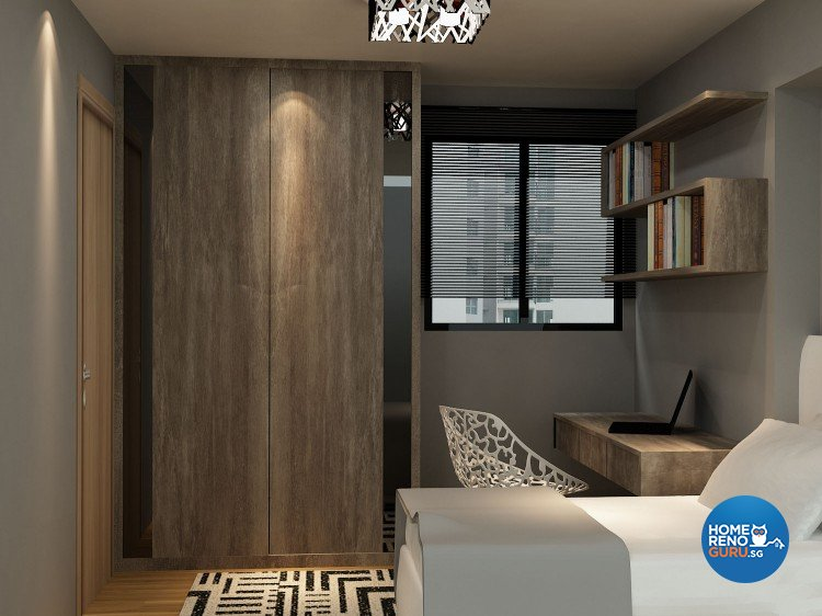 Minimalist, Modern Design - Bedroom - HDB Executive Apartment - Design by The Creative Formation Pte Ltd