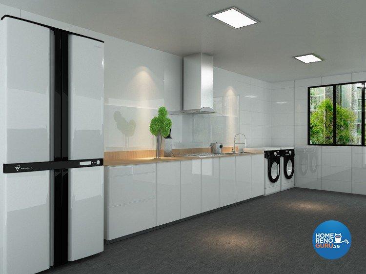 Minimalist, Modern Design - Kitchen - HDB Executive Apartment - Design by The Creative Formation Pte Ltd