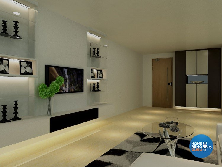 Minimalist, Modern Design - Living Room - HDB Executive Apartment - Design by The Creative Formation Pte Ltd