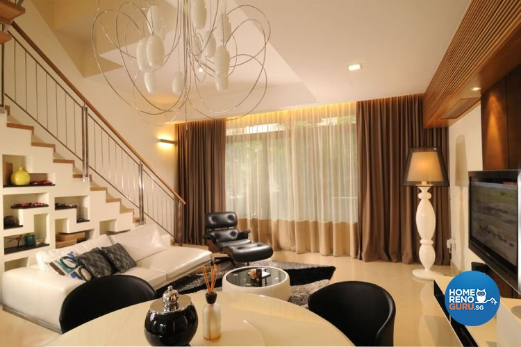 Contemporary, Modern Design - Living Room - Landed House - Design by The Design Ministry Pte Ltd
