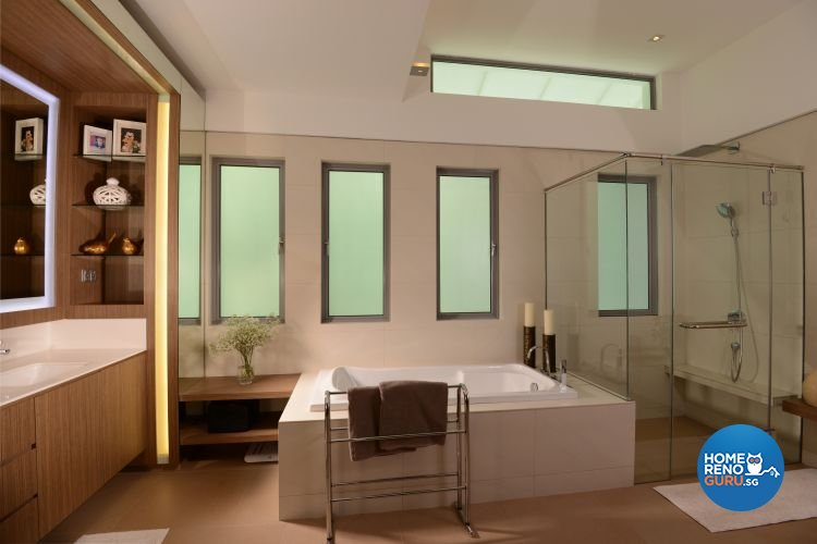 Contemporary, Country, Rustic Design - Bathroom - Landed House - Design by The Design Ministry Pte Ltd