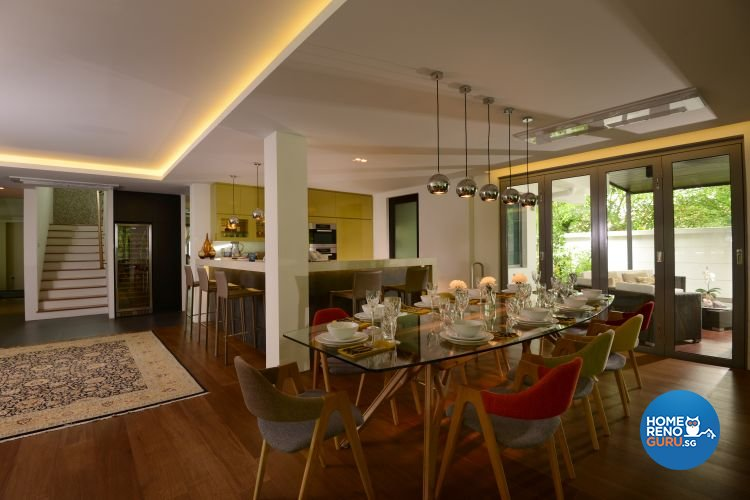 Contemporary, Country, Rustic Design - Dining Room - Landed House - Design by The Design Ministry Pte Ltd
