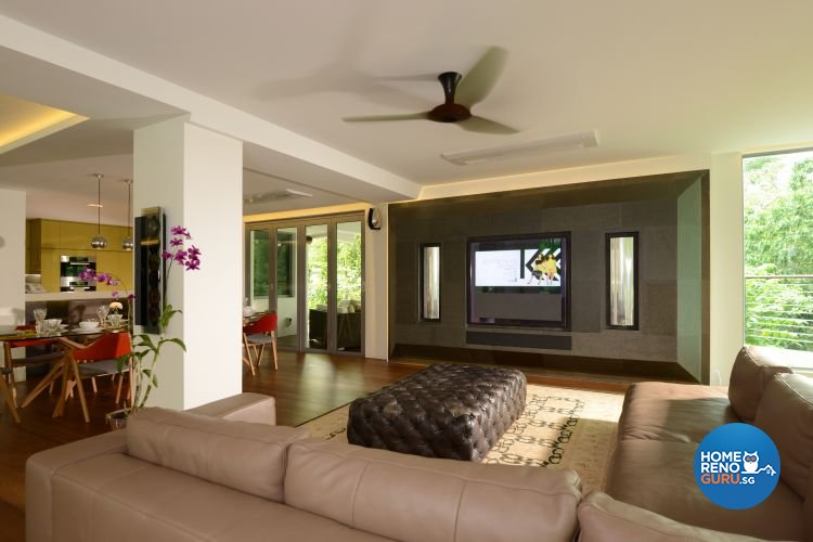 Contemporary, Country, Rustic Design - Living Room - Landed House - Design by The Design Ministry Pte Ltd