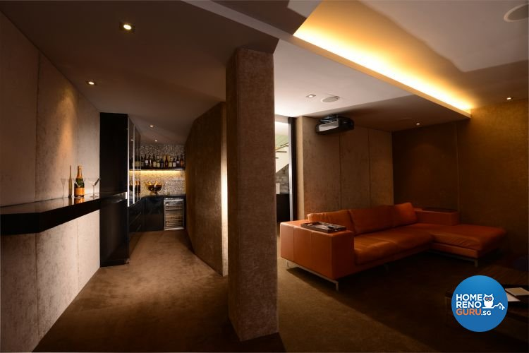 Contemporary, Country, Rustic Design - Entertainment Room - Landed House - Design by The Design Ministry Pte Ltd