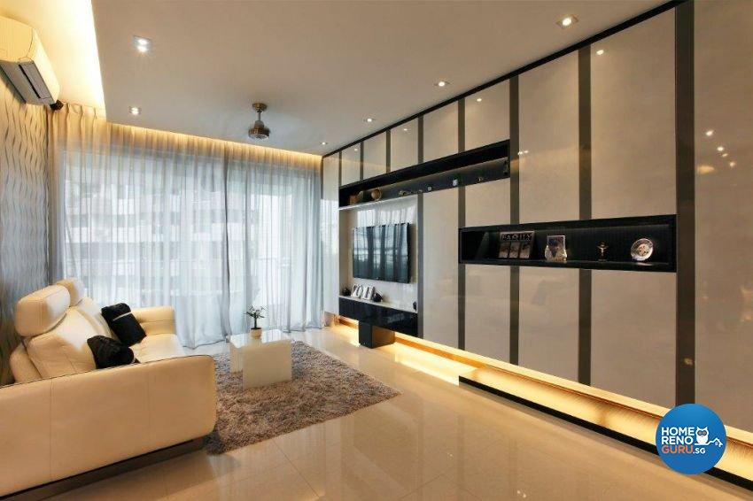 Contemporary, Modern Design - Living Room - Condominium - Design by The Interior Lab Pte Ltd