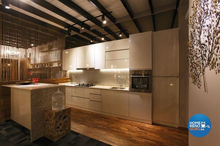 Retro, Rustic Design - Kitchen - Office - Design by The Interior Lab Pte Ltd
