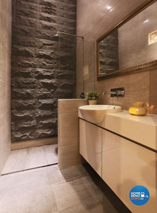 Retro, Rustic Design - Bathroom - Office - Design by The Interior Lab Pte Ltd