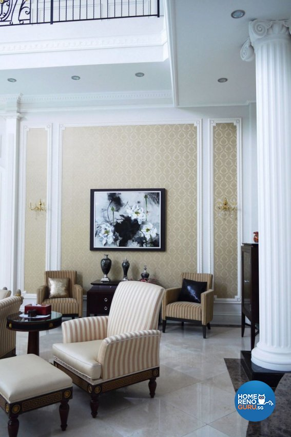 Classical, Modern, Victorian Design - Living Room - Landed House - Design by The Interior Library