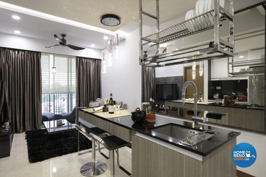Modern, Rustic Design - Dining Room - Condominium - Design by The Interior Place Pte Ltd