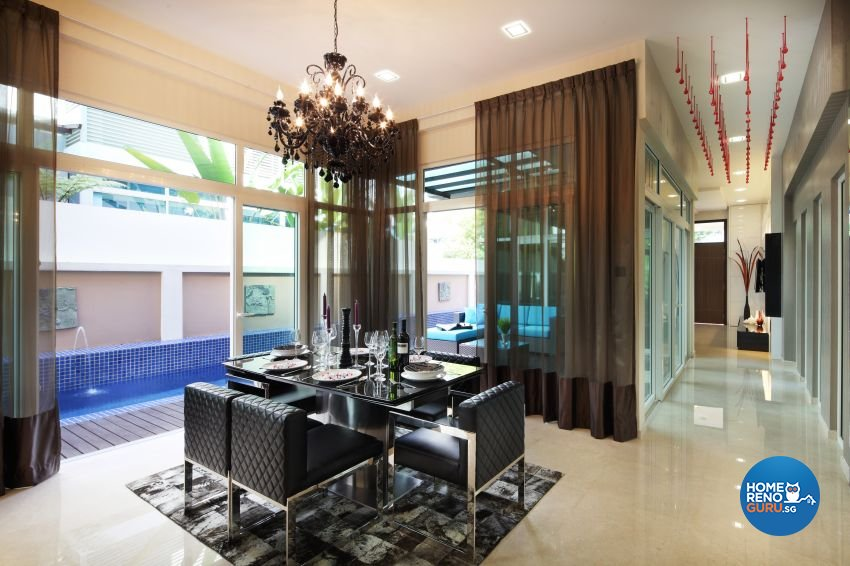 Modern Design - Dining Room - Landed House - Design by The Interior Place Pte Ltd