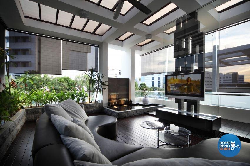 Modern Design - Balcony - Landed House - Design by The Interior Place Pte Ltd