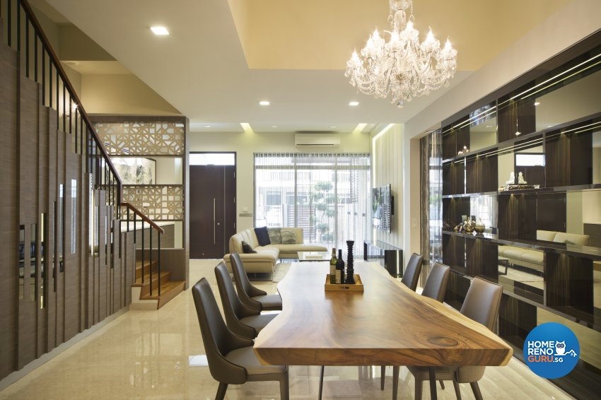 Classical, Modern Design - Dining Room - Landed House - Design by The Interior Place Pte Ltd