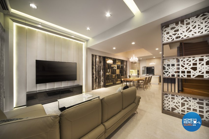Classical, Modern Design - Living Room - Landed House - Design by The Interior Place Pte Ltd