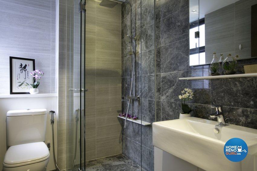 Rustic Design - Bathroom - Condominium - Design by The Interior Place Pte Ltd