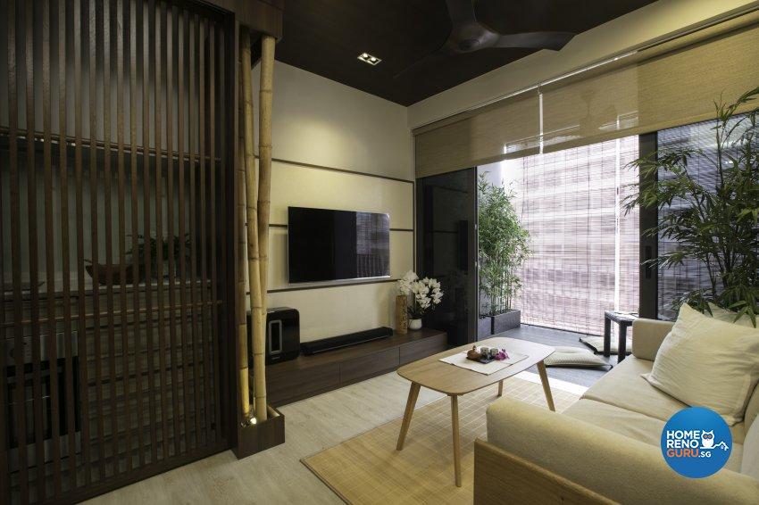 Rustic Design - Living Room - Condominium - Design by The Interior Place Pte Ltd