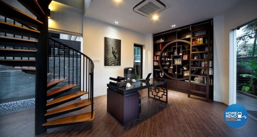Contemporary, Modern Design - Study Room - Landed House - Design by The Interior Place Pte Ltd
