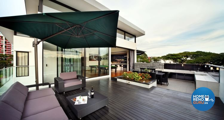 Contemporary, Modern Design - Balcony - Landed House - Design by The Interior Place Pte Ltd