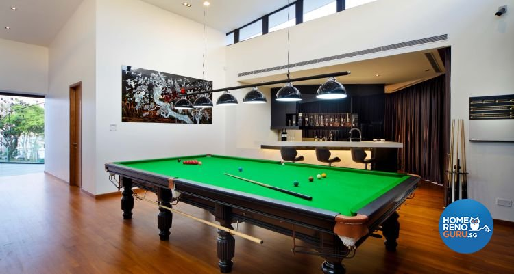 Contemporary, Modern Design - Entertainment Room - Landed House - Design by The Interior Place Pte Ltd