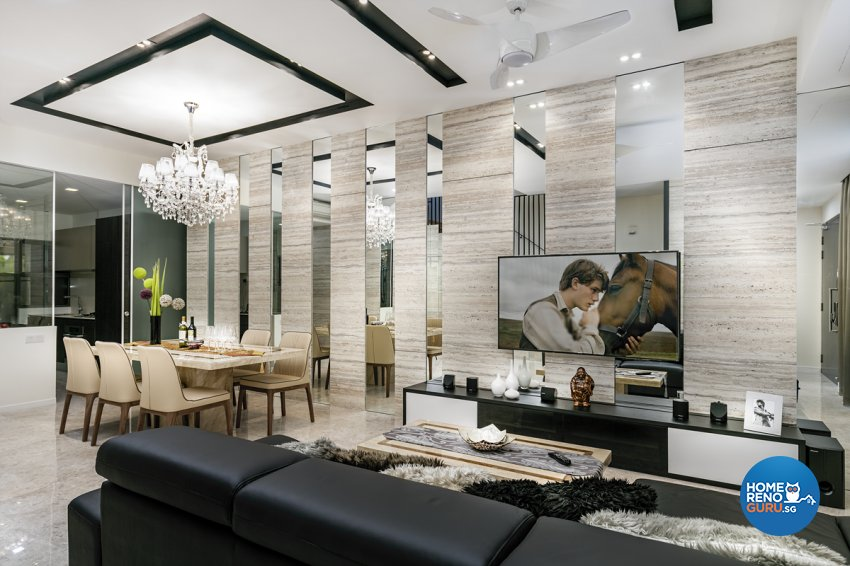 Contemporary, Modern Design - Living Room - Landed House - Design by The Interior Place Pte Ltd