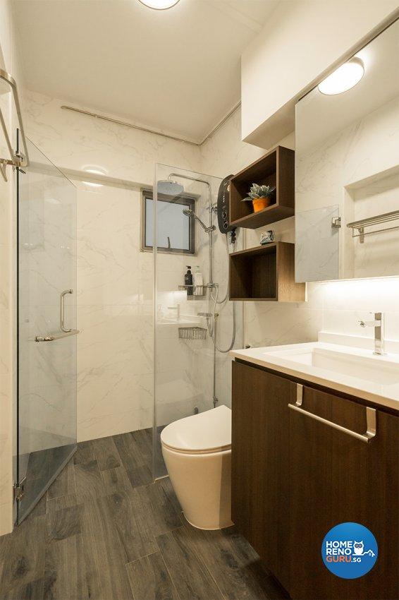 Minimalist, Modern Design - Bathroom - HDB 4 Room - Design by The Interior Place Pte Ltd