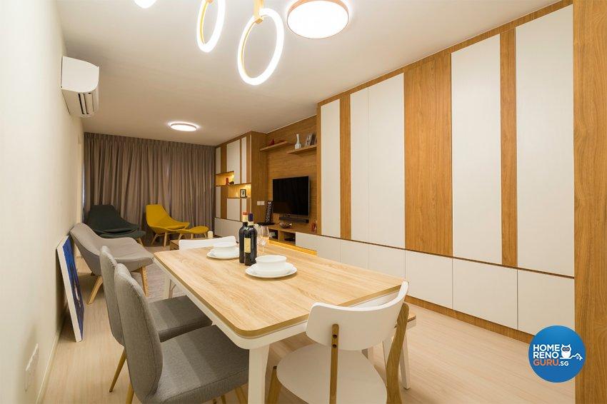 Minimalist, Modern Design - Dining Room - HDB 4 Room - Design by The Interior Place Pte Ltd