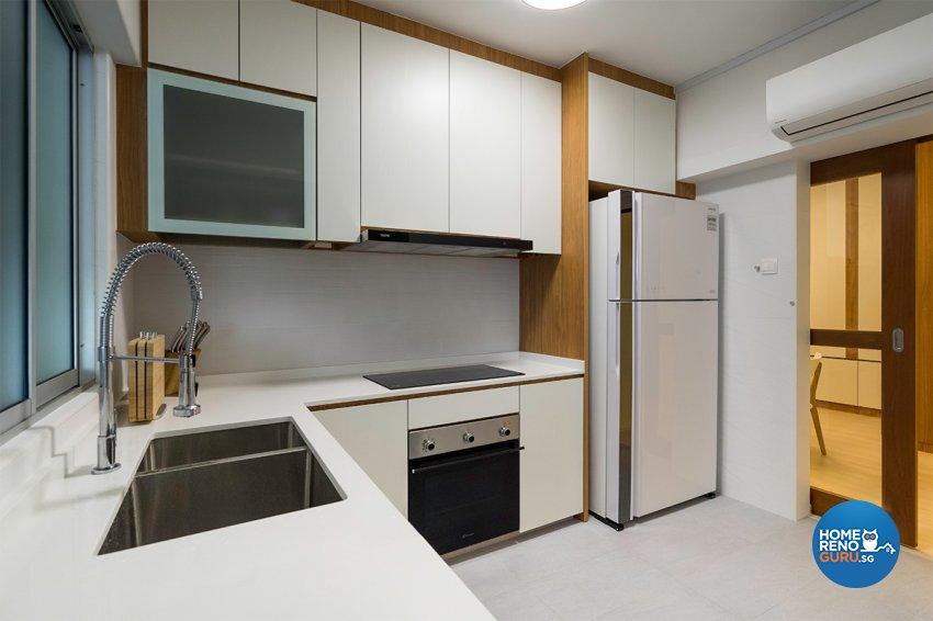 Minimalist, Modern Design - Kitchen - HDB 4 Room - Design by The Interior Place Pte Ltd