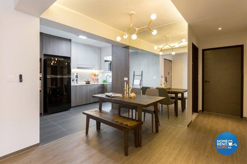 Scandinavian Design - Dining Room - HDB 4 Room - Design by The Interior Place Pte Ltd