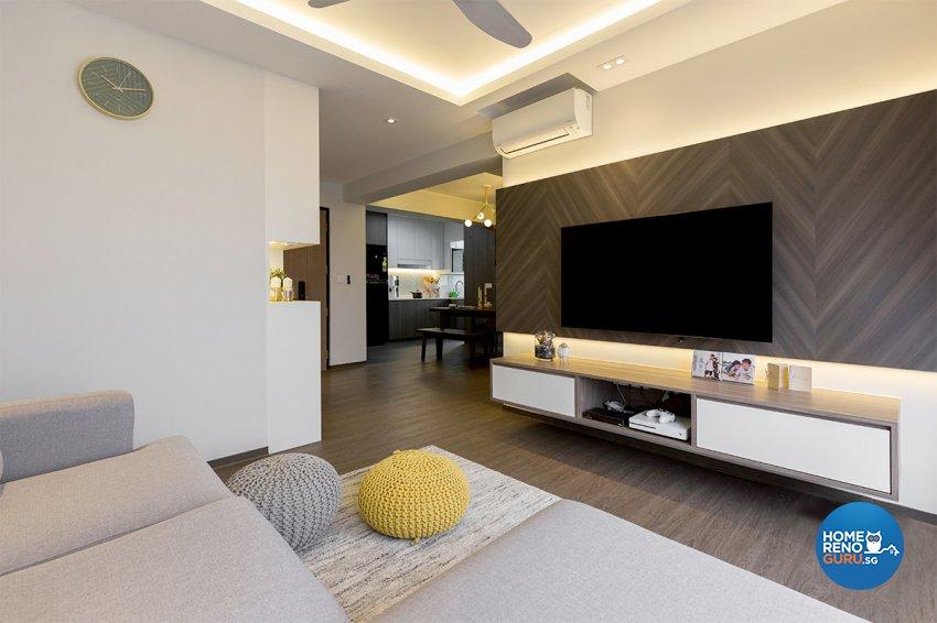 Scandinavian Design - Living Room - HDB 4 Room - Design by The Interior Place Pte Ltd