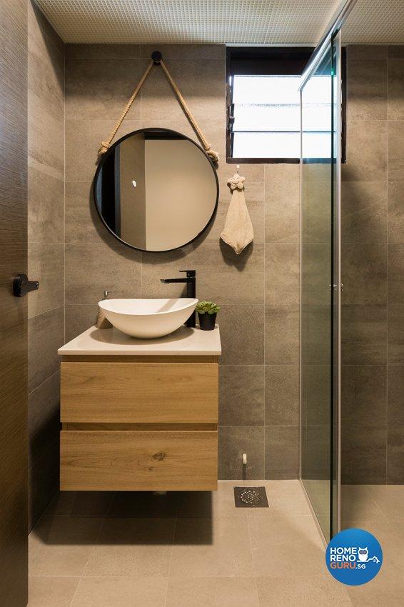 Scandinavian Design - Bathroom - HDB 4 Room - Design by The Interior Place Pte Ltd