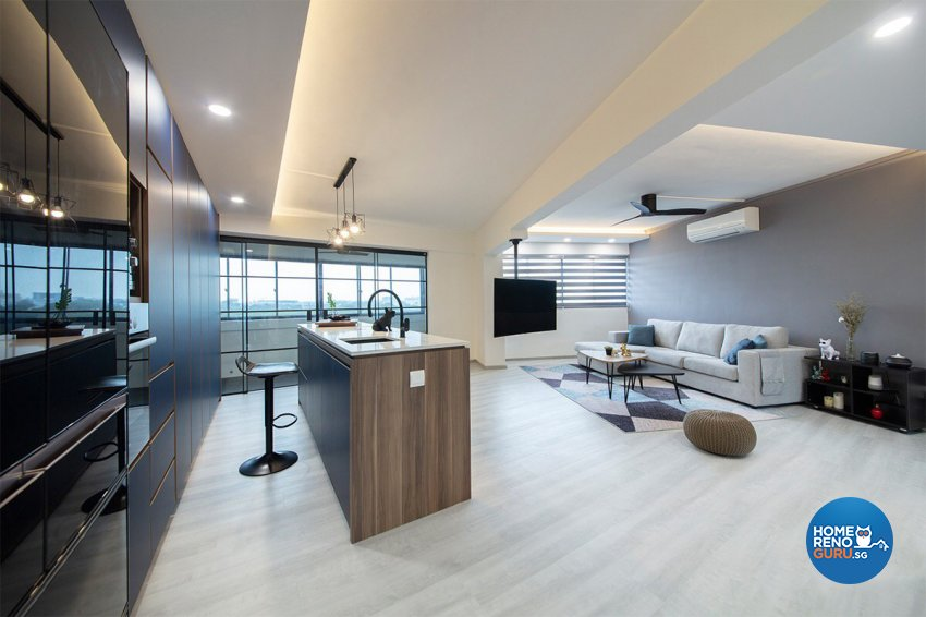 Modern Design - Living Room - HDB 5 Room - Design by The Interior Place Pte Ltd