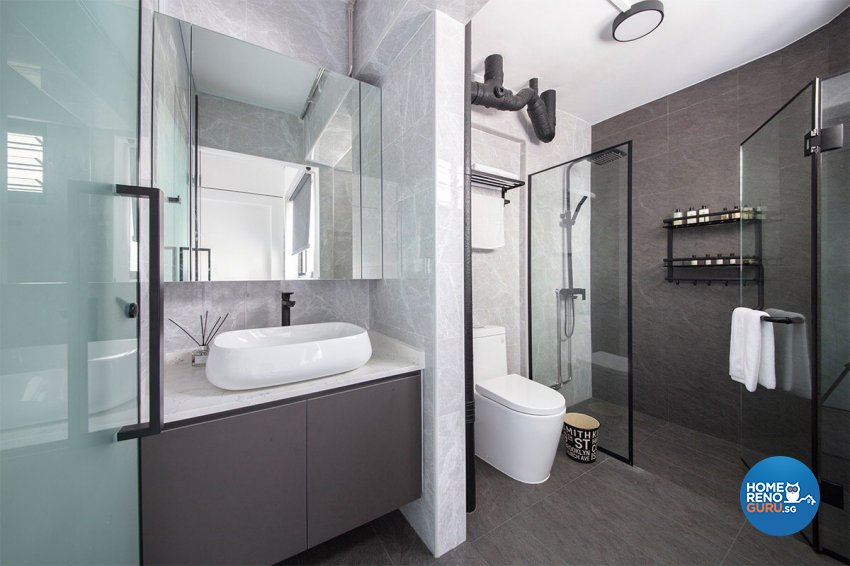 Modern Design - Bathroom - HDB 5 Room - Design by The Interior Place Pte Ltd