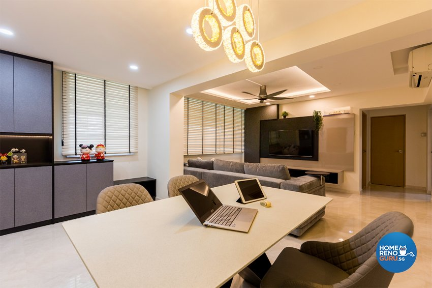 Modern Design - Dining Room - HDB 4 Room - Design by The Interior Place Pte Ltd