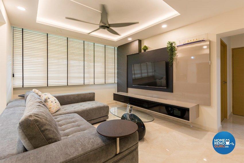 Modern Design - Living Room - HDB 4 Room - Design by The Interior Place Pte Ltd