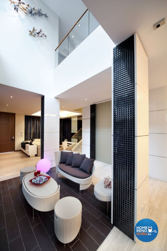 Contemporary, Modern, Resort Design - Living Room - Landed House - Design by The Interior Place Pte Ltd