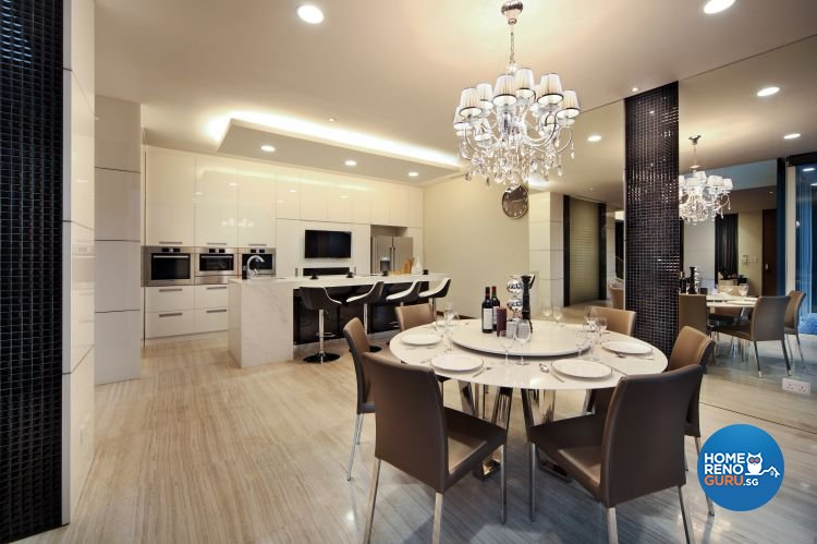Contemporary, Modern, Resort Design - Dining Room - Landed House - Design by The Interior Place Pte Ltd