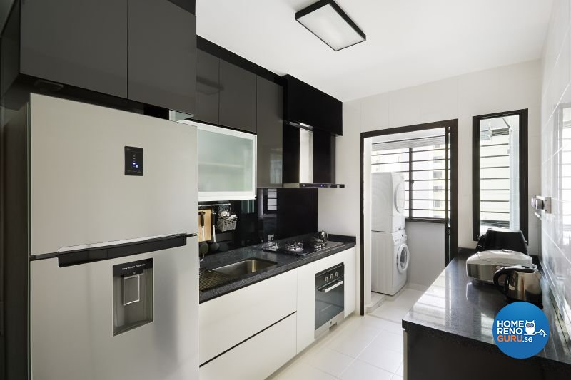 Contemporary  Minimalist  Modern Design   Kitchen   HDB 4 Room   Design by  TheSingapore Interior Design Gallery Design Details   HomeRenoGuru. Hdb 4 Room Kitchen Design. Home Design Ideas