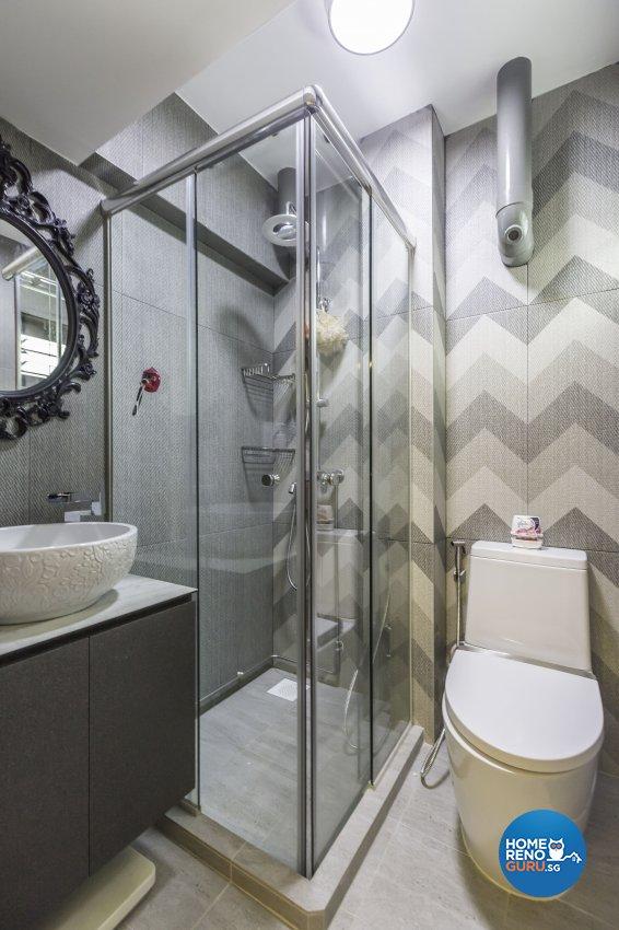Scandinavian Design - Bathroom - HDB 3 Room - Design by The Mind Design Pte Ltd