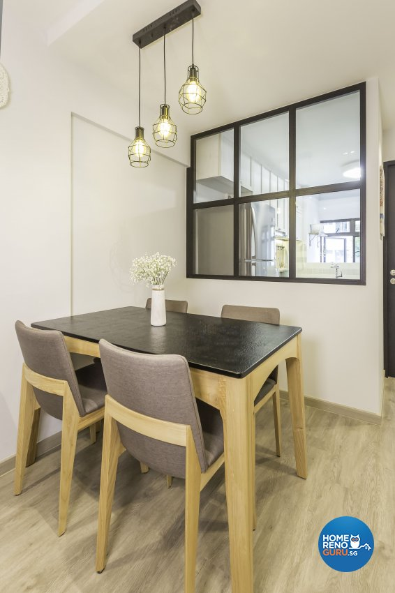 Scandinavian Design - Dining Room - HDB 3 Room - Design by The Mind Design Pte Ltd