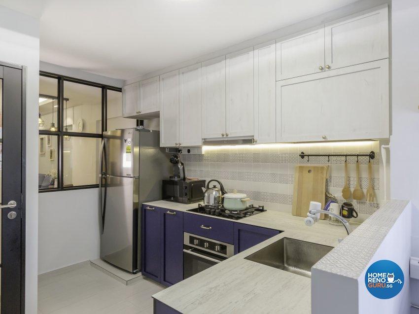 Scandinavian Design - Kitchen - HDB 3 Room - Design by The Mind Design Pte Ltd