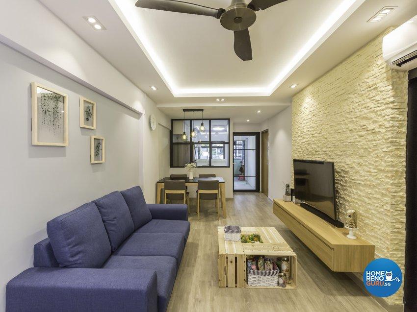 Scandinavian Design - Living Room - HDB 3 Room - Design by The Mind Design Pte Ltd