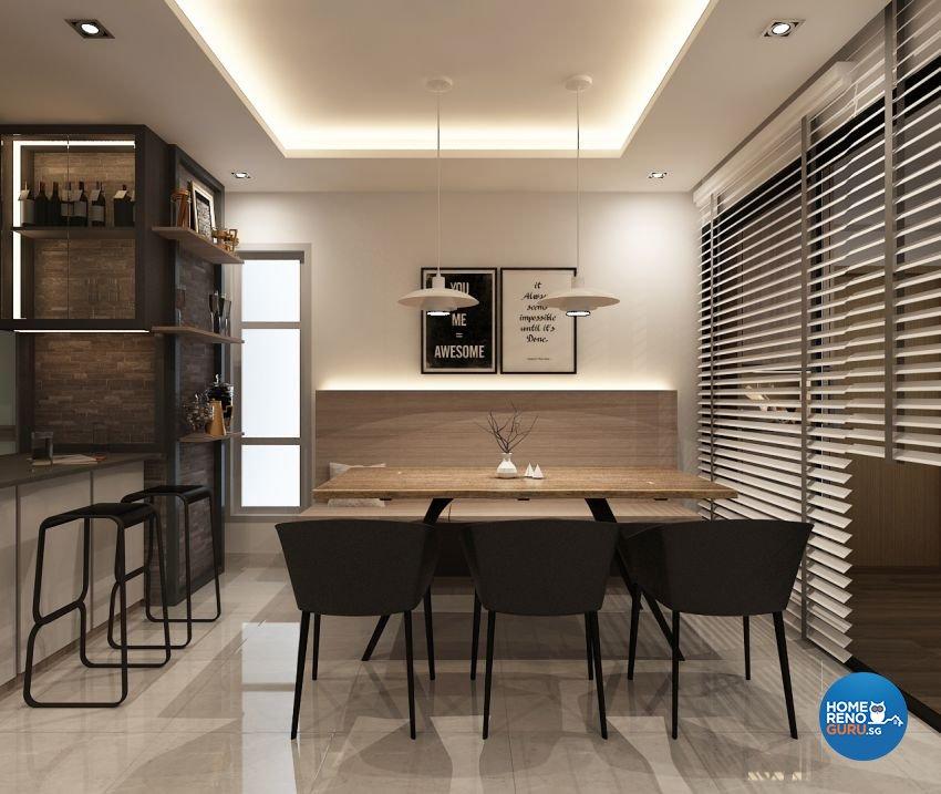 Contemporary, Modern, Scandinavian Design - Dining Room - Condominium - Design by The Mind Design Pte Ltd