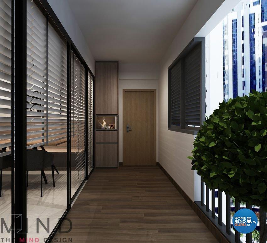 Contemporary, Modern, Scandinavian Design - Balcony - Condominium - Design by The Mind Design Pte Ltd