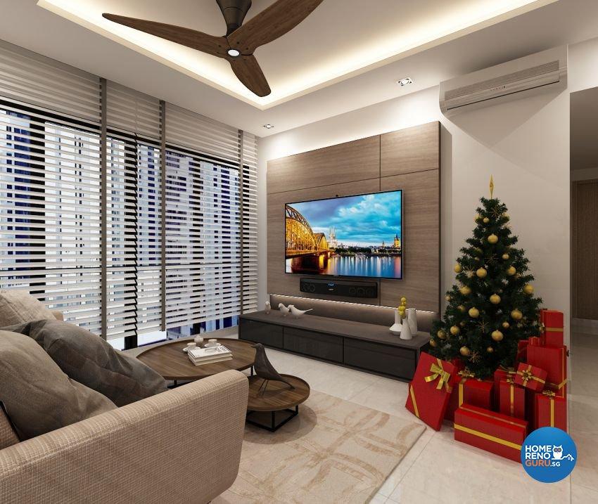 Contemporary, Modern, Scandinavian Design - Living Room - Condominium - Design by The Mind Design Pte Ltd